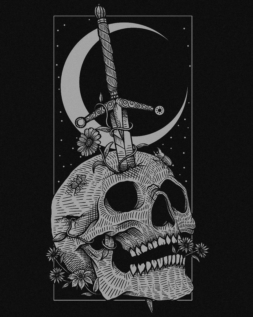 Skull Art By Matt Reid Dance Of Death Art Skull Art