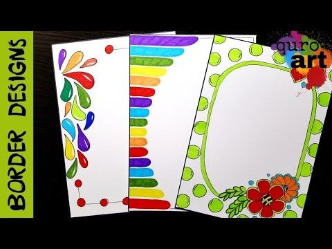 Easy flower border designs on paper project work borders for projects youtube also rh co pinterest