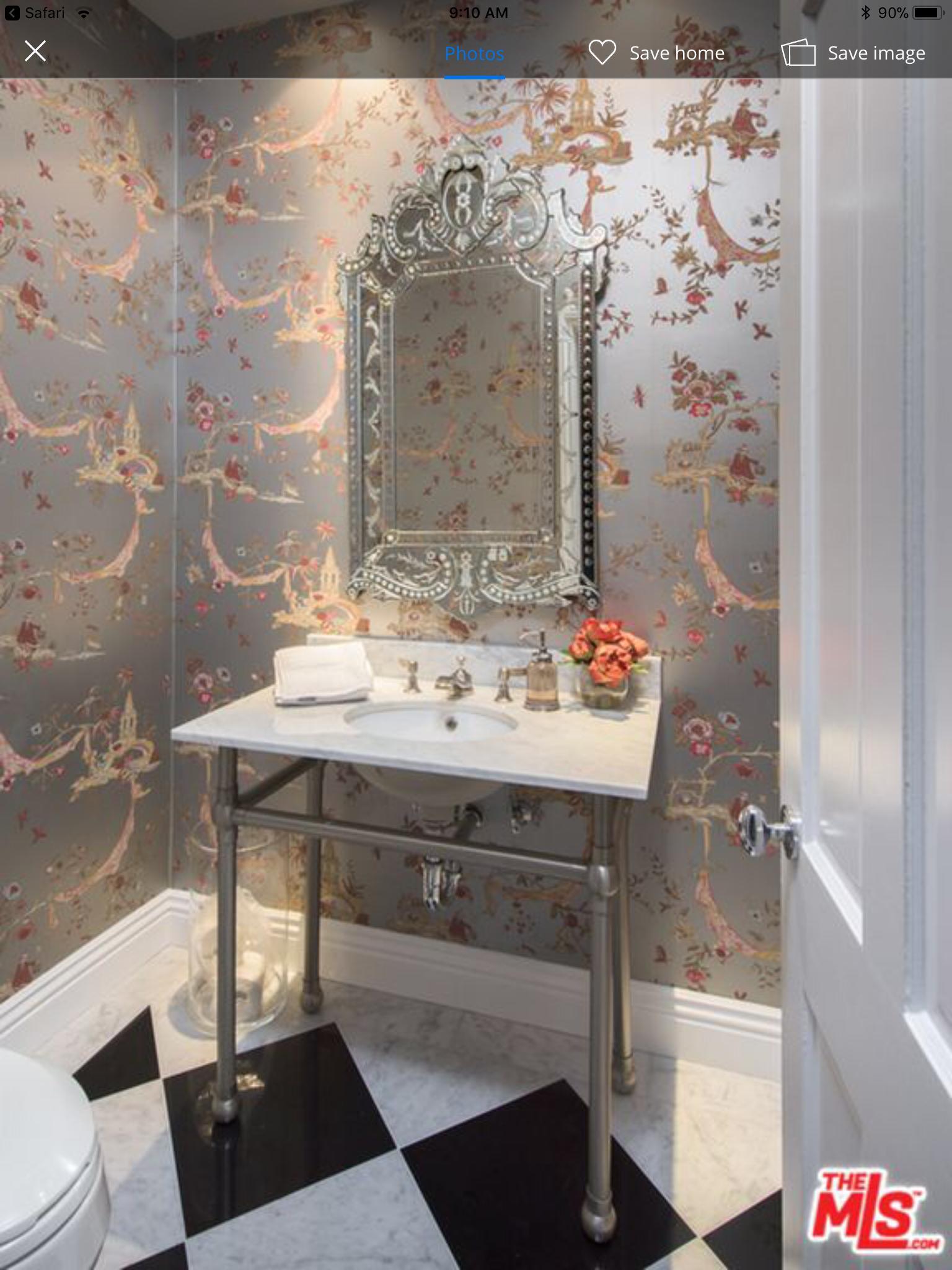 Wallpaper Kyle Richards Powder Room Bathroom Interior Design Bedroom Design Home Decor