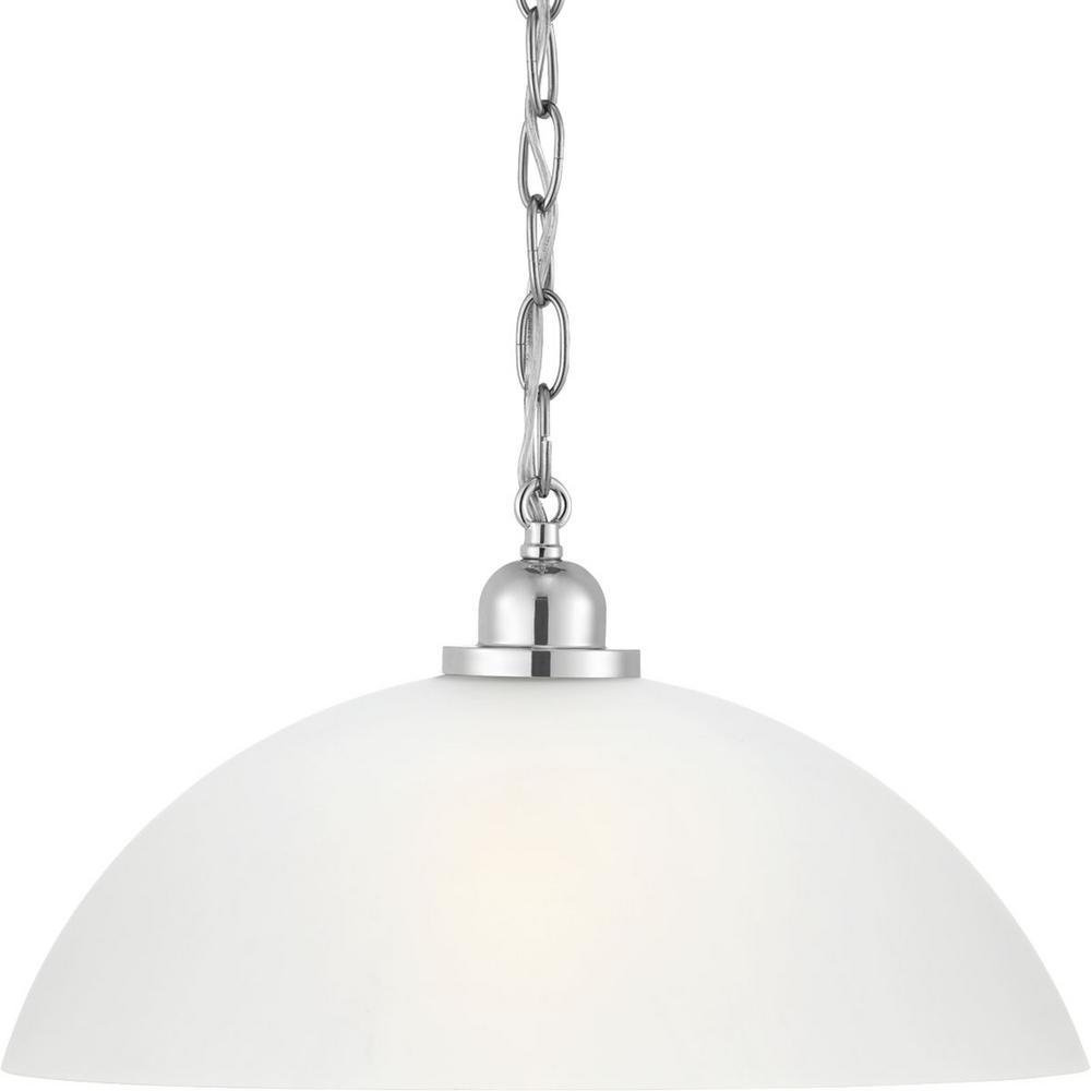 Progress Lighting Classic 1 Light Polished Chrome Pendant Progress Lighting Lighting Light Bulb Bases