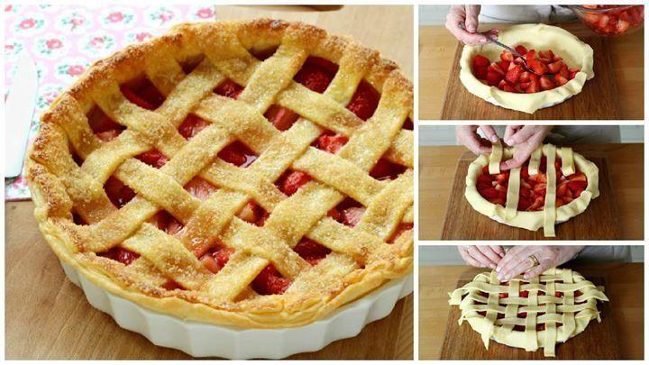 Cómo hacer una típica tarta trenzada de fresa