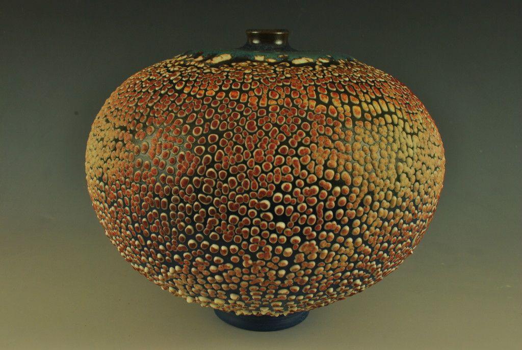 Crawl Glaze Vase Sphère