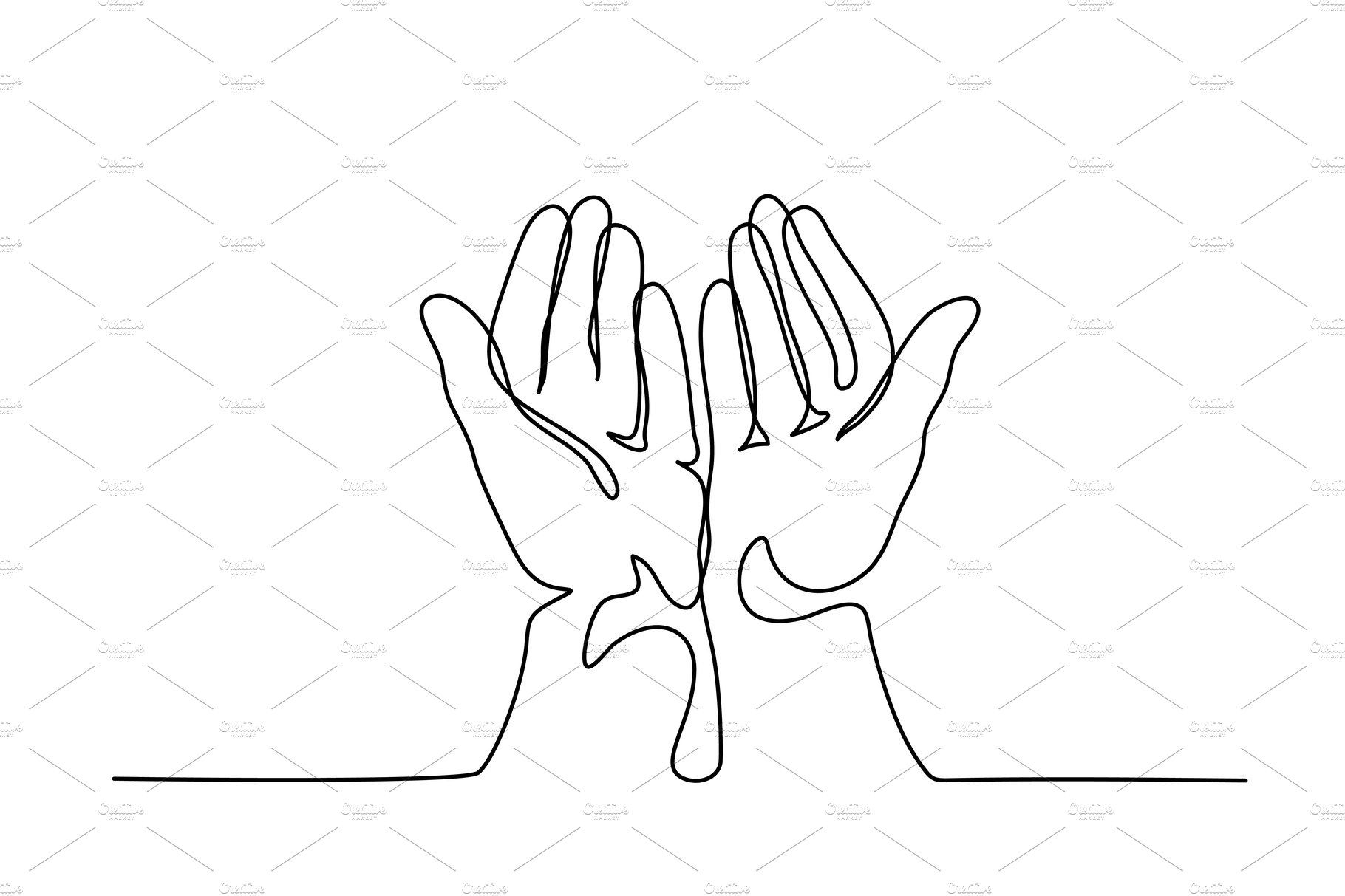 Hands Palms Together Praying Praying Hands Drawing Hand Illustration Line Art Drawings