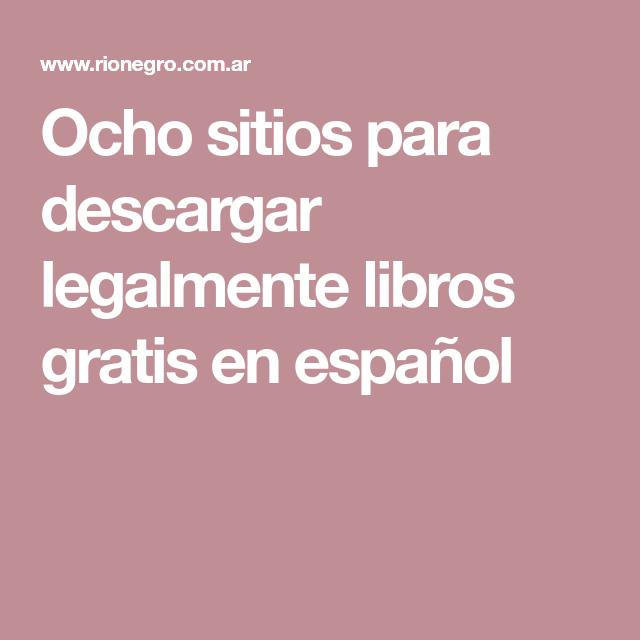 Ocho sitios para descargar legalmente libros gratis en español
