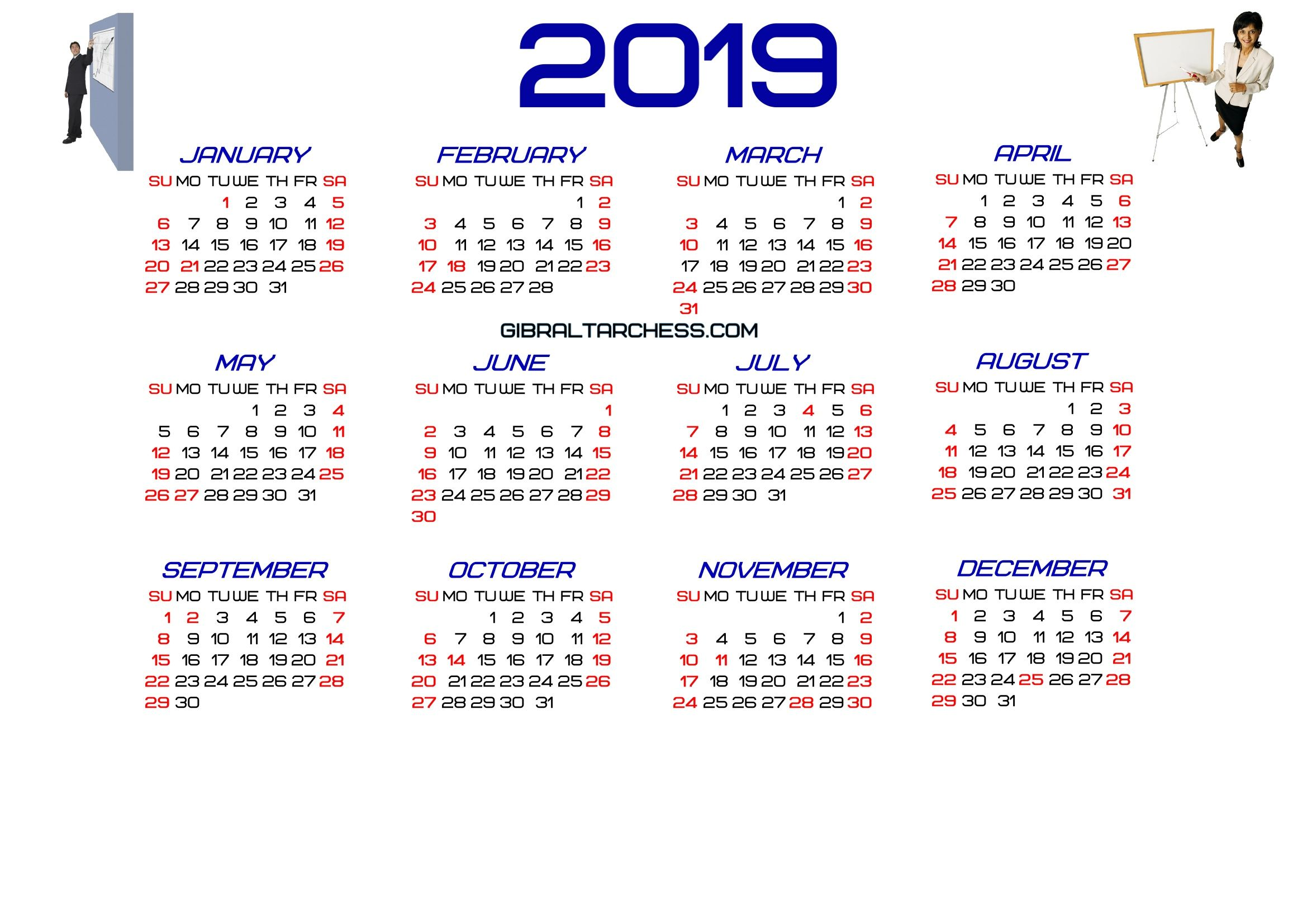 The Fiscal Year Calendar 2019 Excel Calendar Template Pinterest