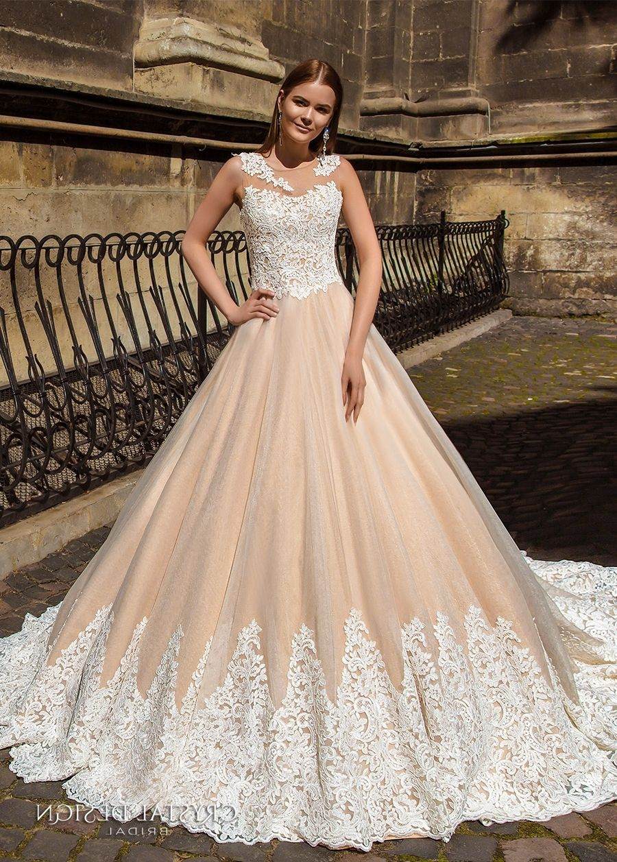 Champagne and ivory wedding dress  Wedding Dresses In Champagne Color  Wedding Dress  Pinterest