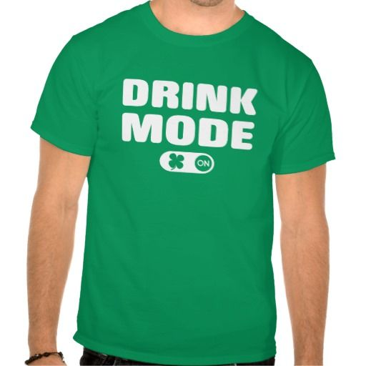 Saint Patrick's Day drink mode on