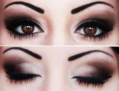 tutoriel maquillage yeux marrons foncés