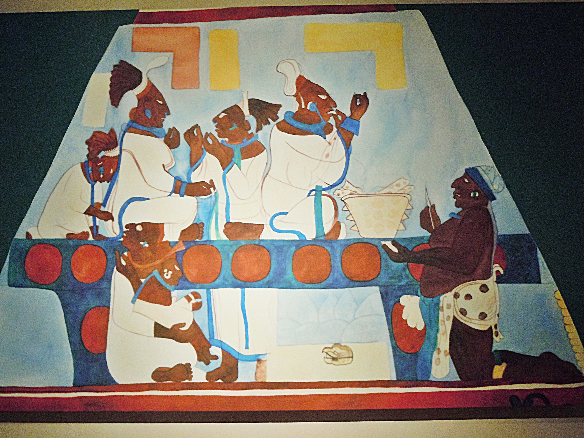 Murals At Bonampak Women Performing Self Bloodletting Arte Maya