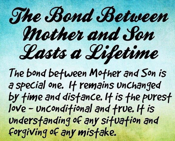 The Bond Between Mother And Son Lasts A Lifetime I Heart Sons