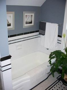 Find This Pin And More On Bathroom Ideas Black And White Tile
