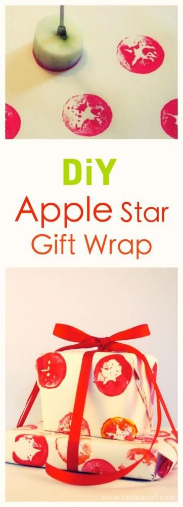 Easy to make apple star gift wrap fun craft project for you or the easy to make apple star gift wrap fun craft project for you or the kids solutioingenieria Images