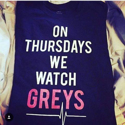 On Thursdays We Watch Greys Anatomy Black T Shirt Fresh Tops