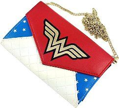 """Wonder Woman Envelope Wallet with 48"""" Chain"""