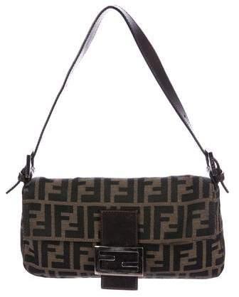 Fendi Zucca   Leather Baguette  084603707da9a