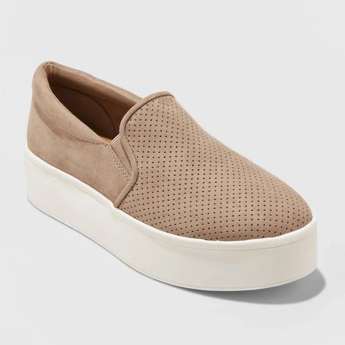 Platform slip on sneakers
