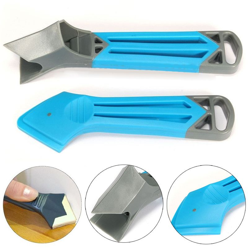2PCs Plastic Caulking Tool Kit Corner Joint Sealant Rubber Grout Remover Scraper