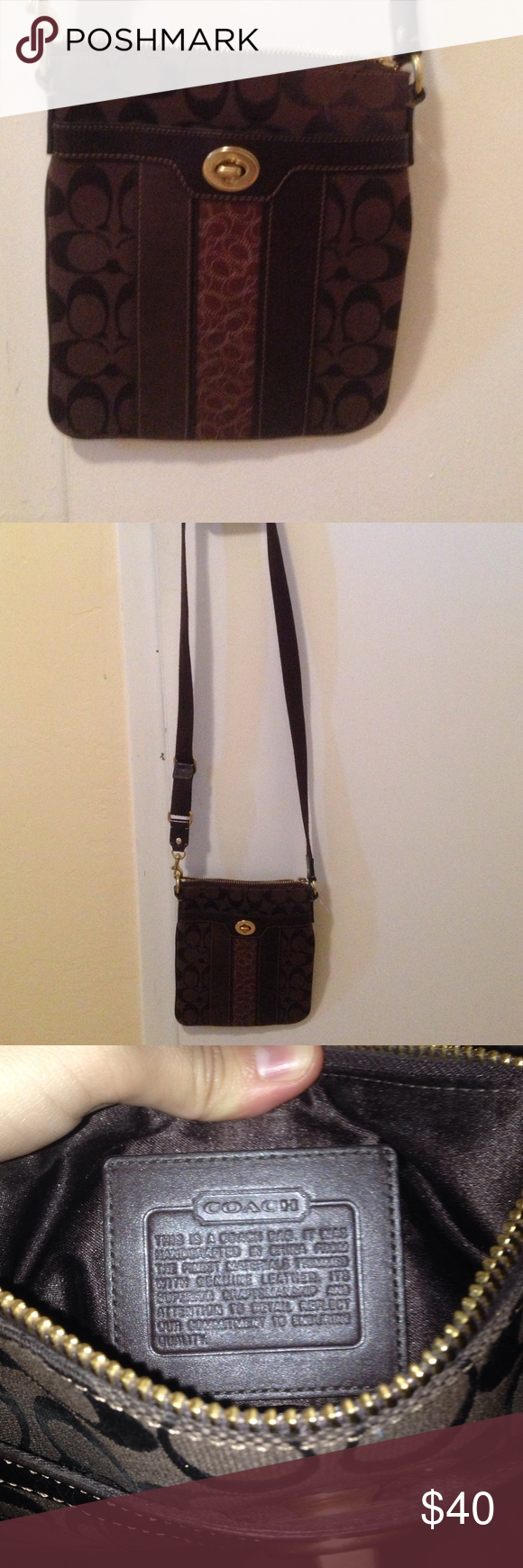 Coach brown cross body purse Used a few times, excellent condition Coach Bags Crossbody Bags