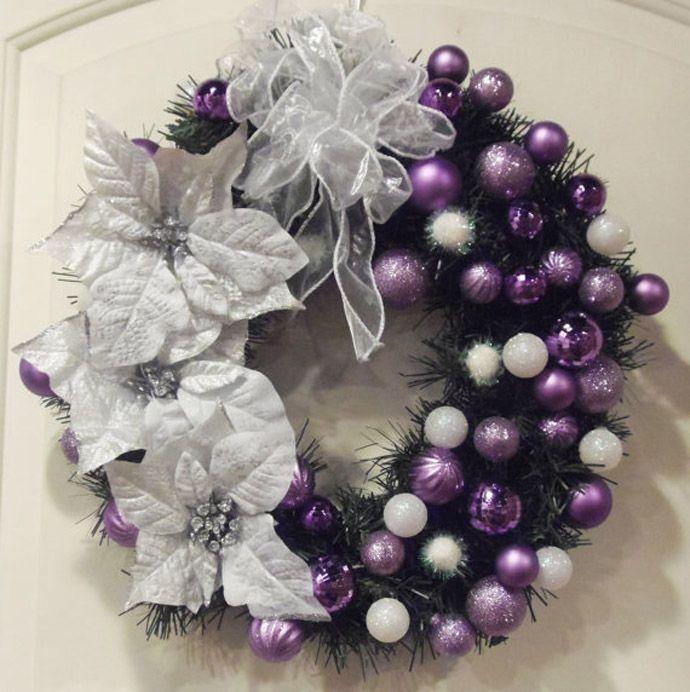 Ideas para decoracion de navidad plata con morado ideas - Decoraciones en color plata ...