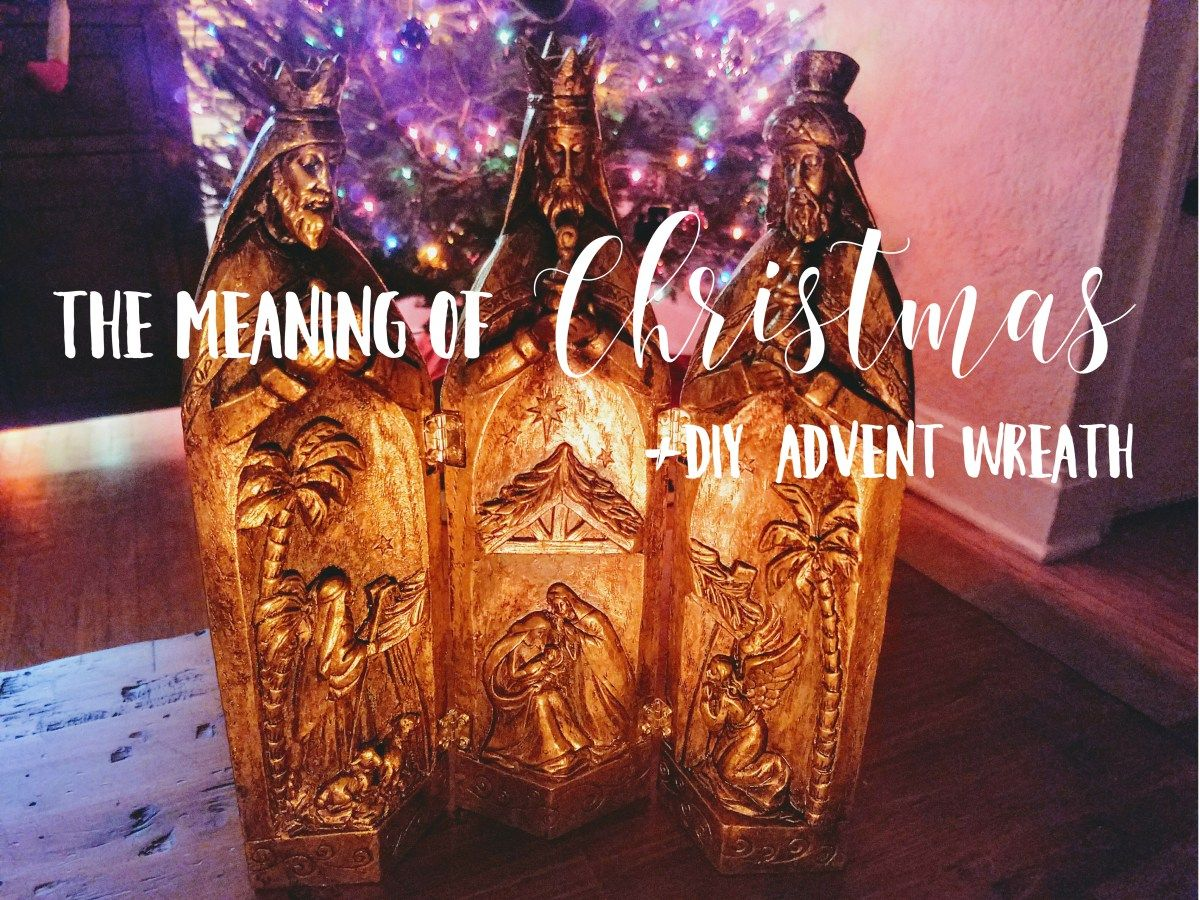The Meaning Of Christmas Diy Advent Wreath