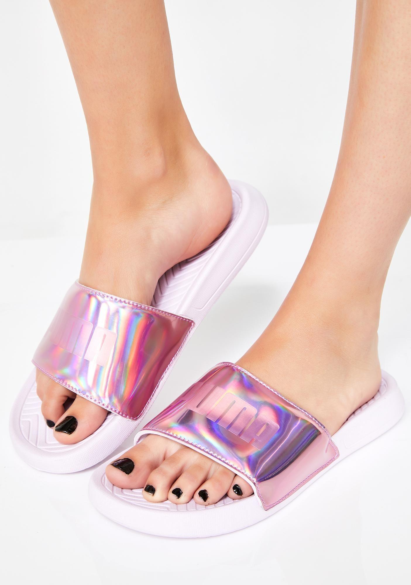 e796b89acd0 PUMA Popcat Chrome Slide Sandals