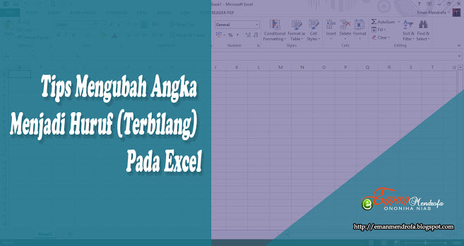 Tips Mengubah Angka Menjadi Huruf Terbilang Pada Excel Eman Mendrofa Huruf Model Pembelajaran Tips