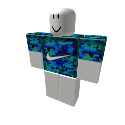 Limited Edition Blue Camo Nike Shirt Roblox Blue Camo Nike Shirts Camo