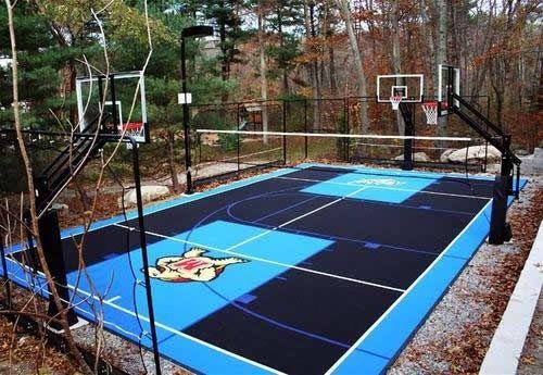 Backyard Basketball Court Designing An Outdoor Basketball Court With Flex Tiles Basketball Court Backyard Outdoor Basketball Court Backyard Basketball