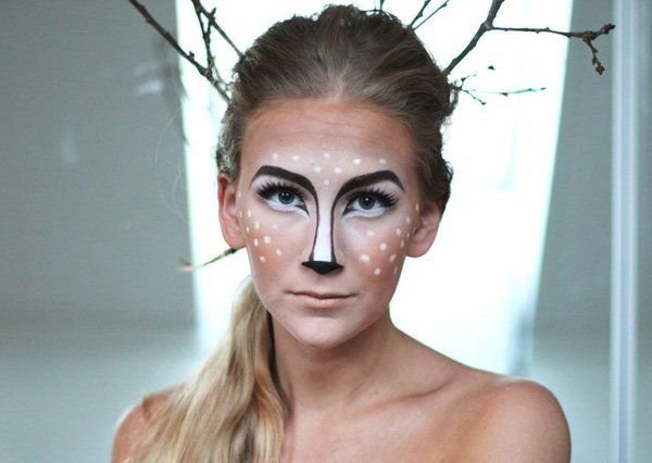 45+ Examples of DIY Halloween Makeup Black face paint, Halloween - face painting halloween makeup ideas