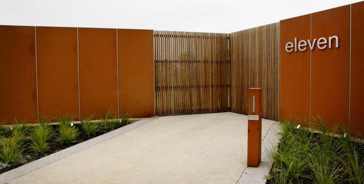 Corten Steel Fence Google Search Nw Modern Asian