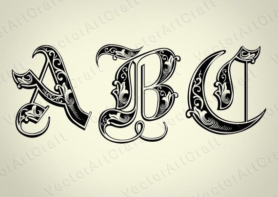 Royal eps Alphabet Numbers font dxf SVG Cricut от VectorArtCraft