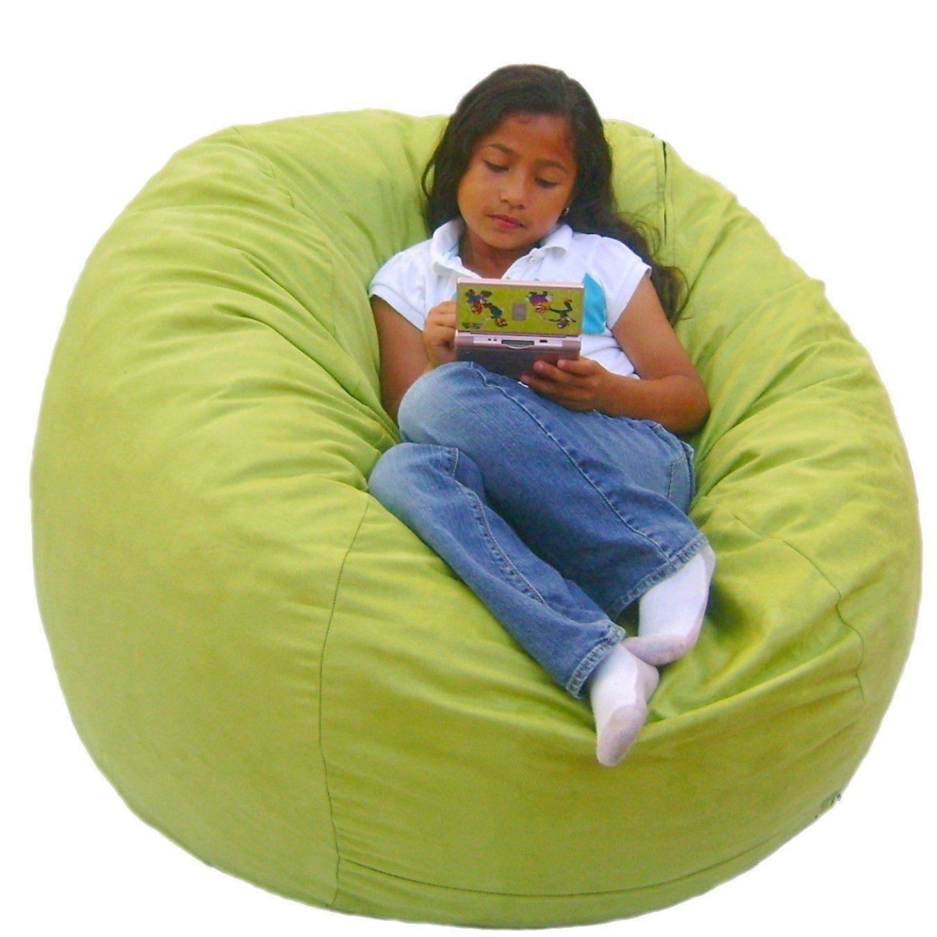 Furnitures Bag Chair Green Circle Bag Chair Green Waterproof Fabric  Comfortable Seat Pan Comfortable Back Pan Comfortable Shoulder Pan Bag Chair  Zipper Pure ...