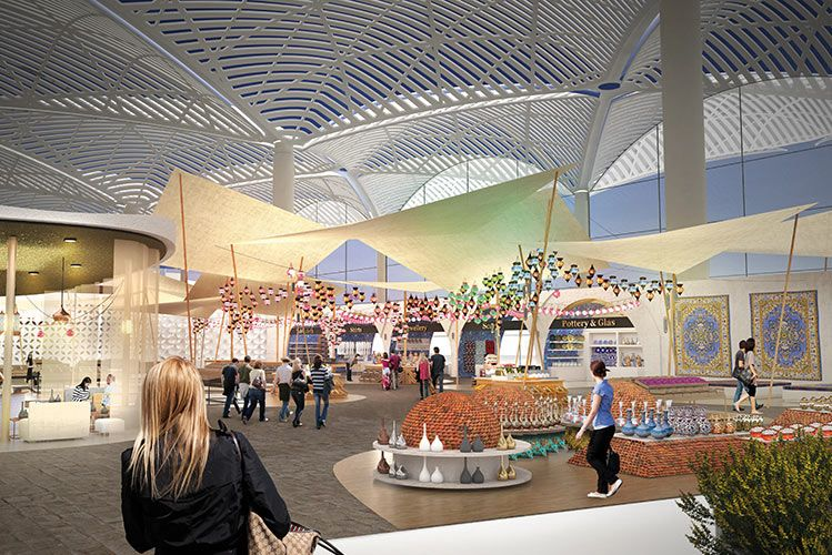 Airside retail Istanbul Istanbul new airport, Istanbul