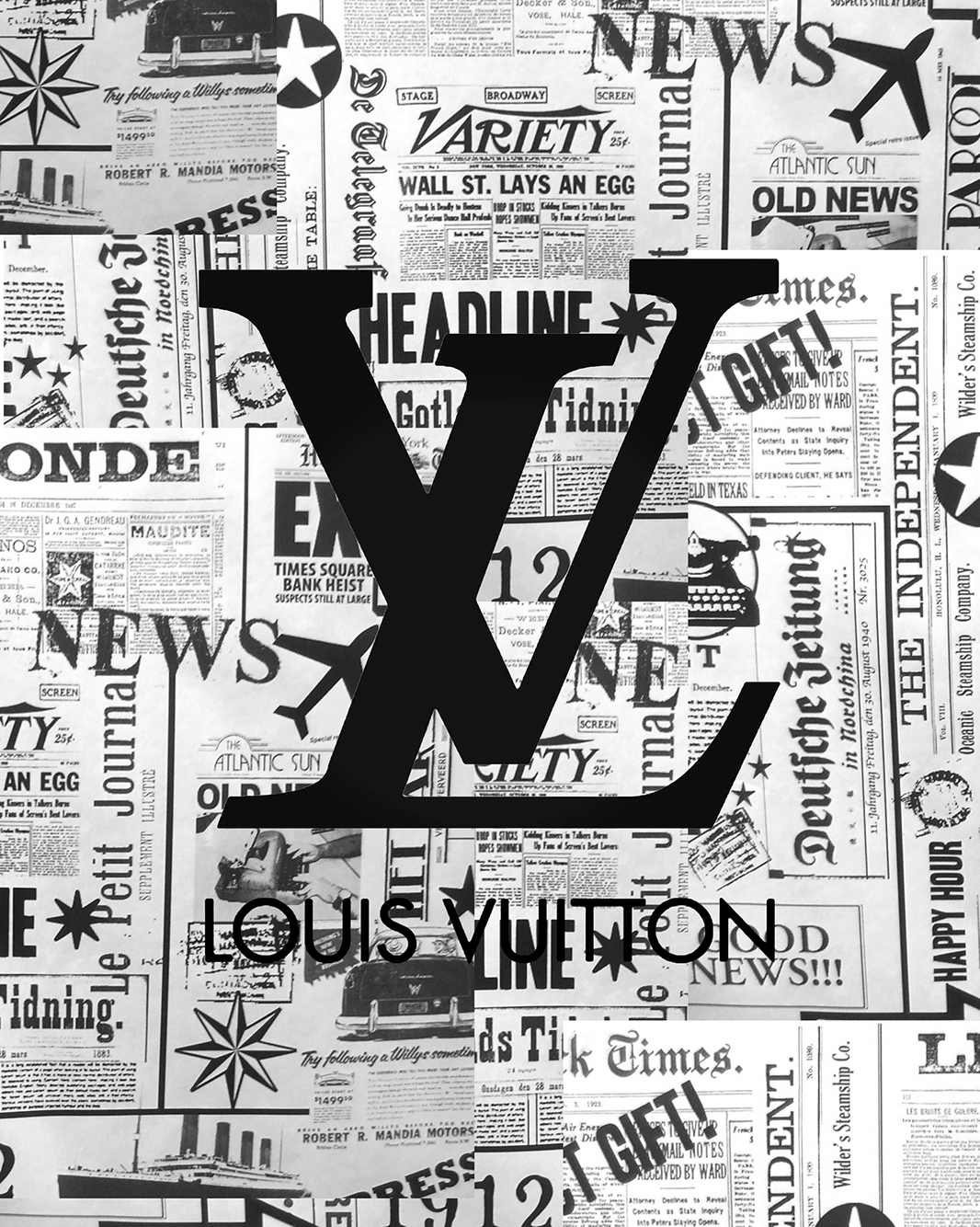 Louis Vuitton In 2020 Black And White Picture Wall Black And White Aesthetic Black And White Photo Wall
