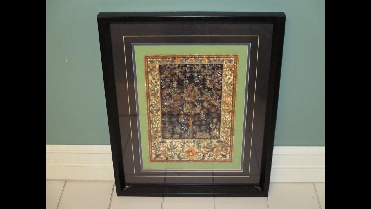 Easy framing a diamond painting using an existing frame