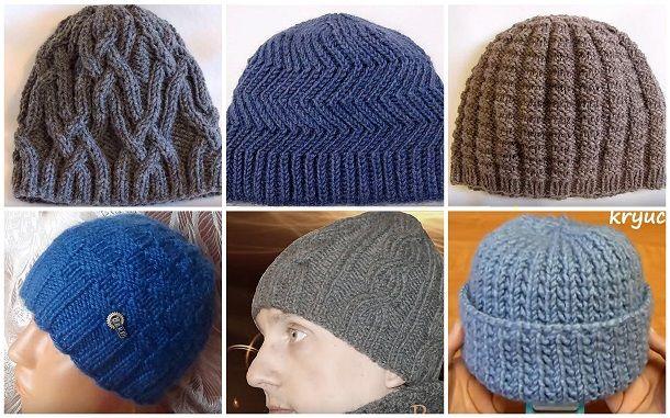 f3ec8a99 Как связать мужскую шапку спицами. Мастер-классы   вязаные шапки ...