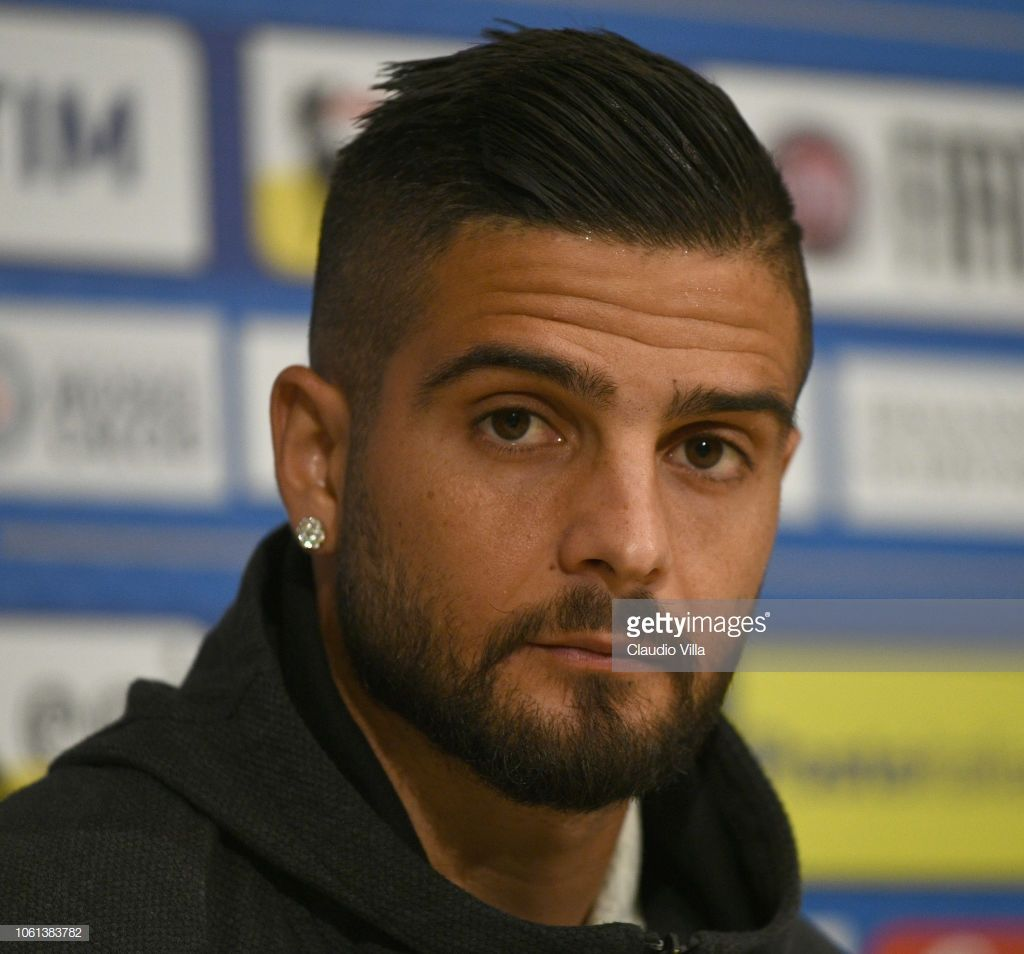 Lorenzo Insigne Of Italy Speaks With The Media During A Italy Press Italian Hair Lorenzo Insigne Haircuts For Men