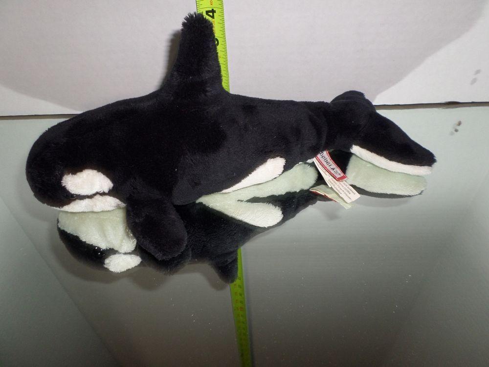 Douglas Killer Whale Plush Orca Ocean Stuffed Animal Plush White Toy
