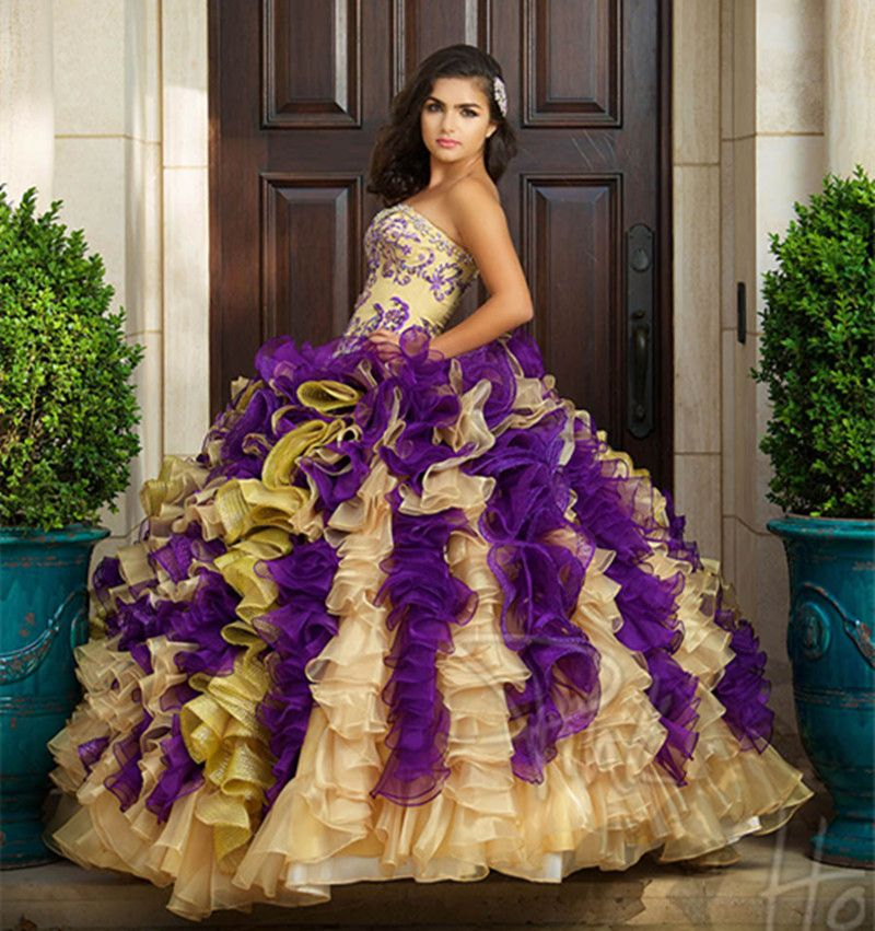 Find More Quinceanera Dresses Information about Hot 2016 Gold And ...