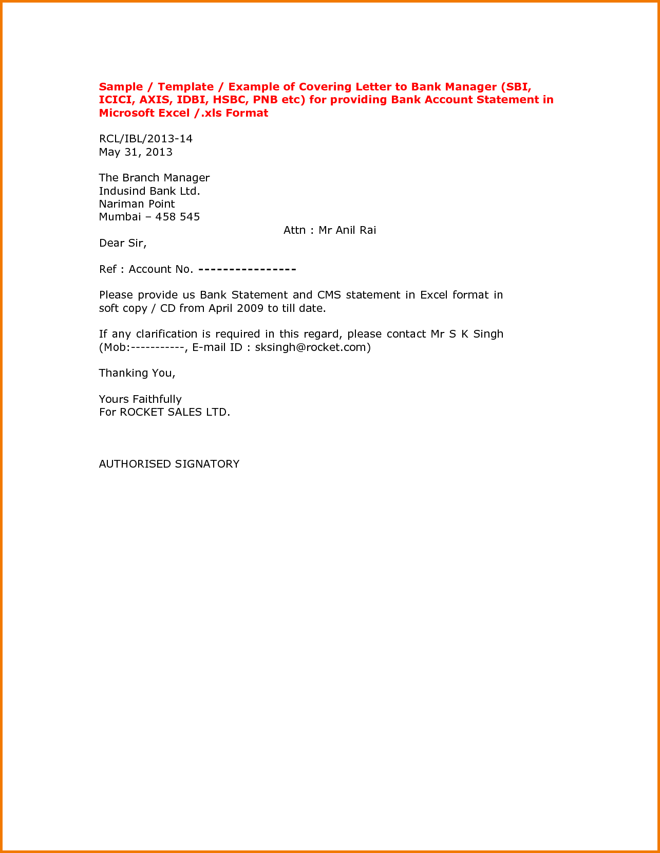 Request Letter For Bank Statement Excel Format Stabnet Sample