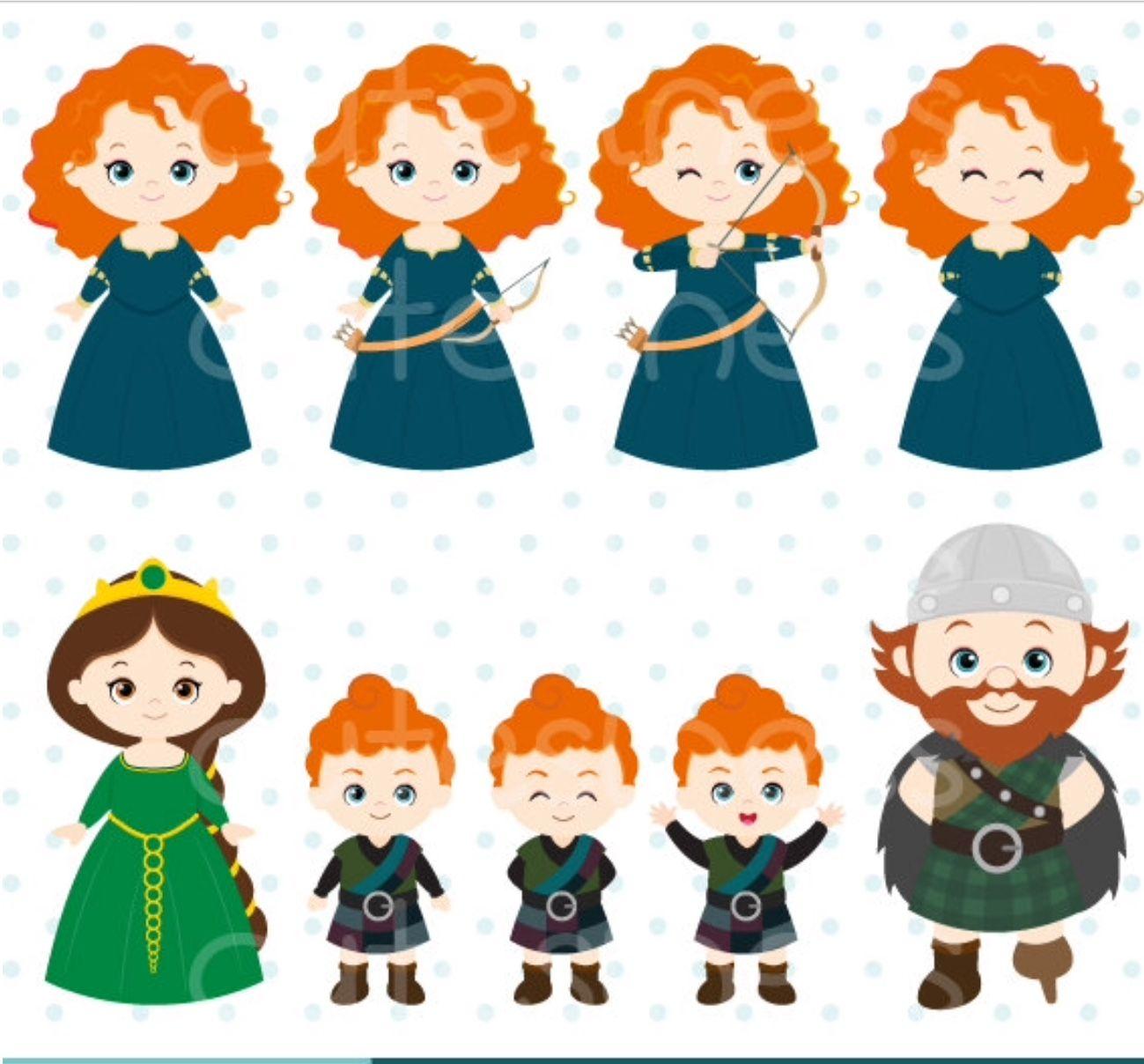 Pin De Delicada Art Em Disney Clip Art Merida Valente Contacao De Historia Infantil Disney Fofa