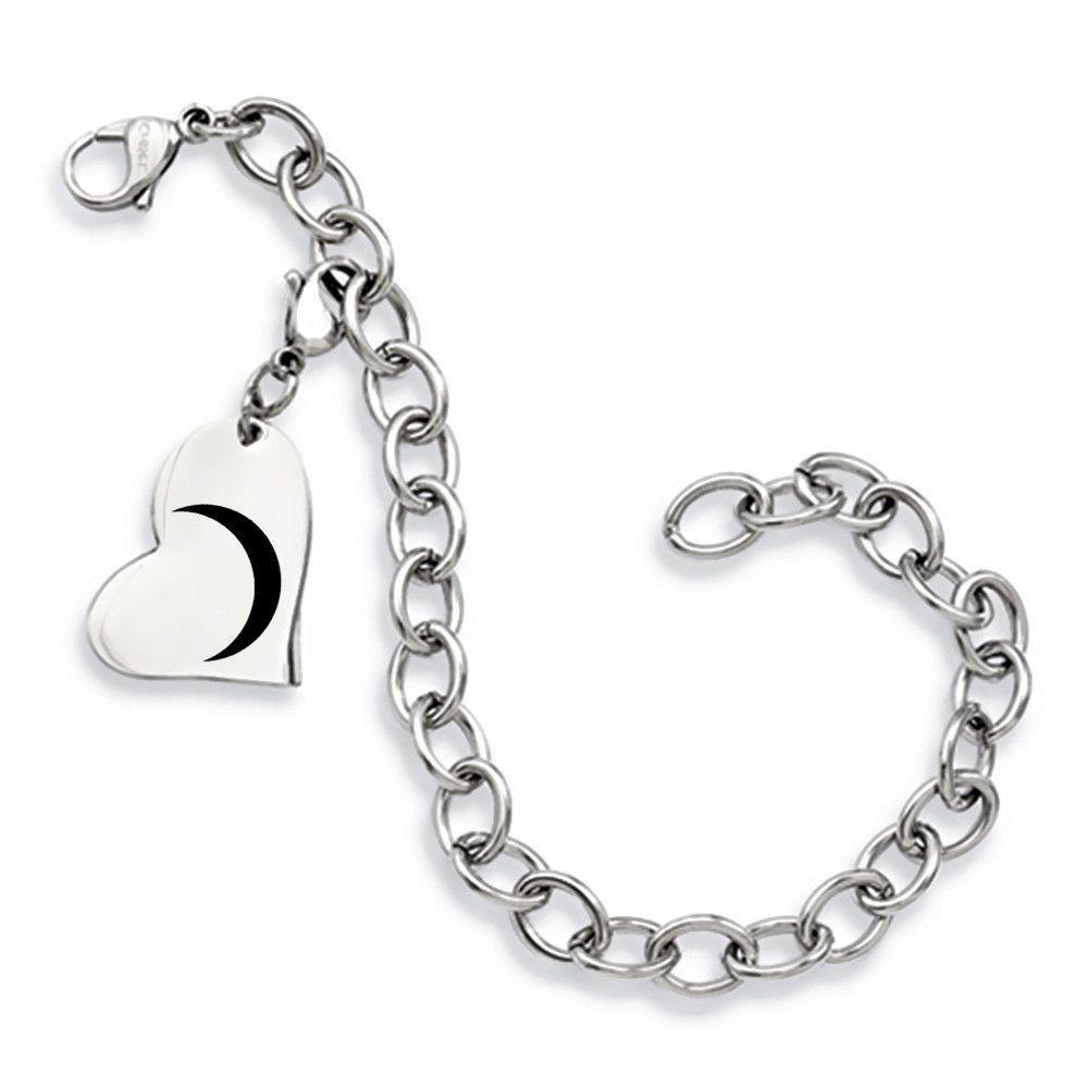 Gamma phi beta symbol stainless steel heart bracelet stainless steel gamma phi beta symbol stainless steel heart bracelet biocorpaavc Image collections