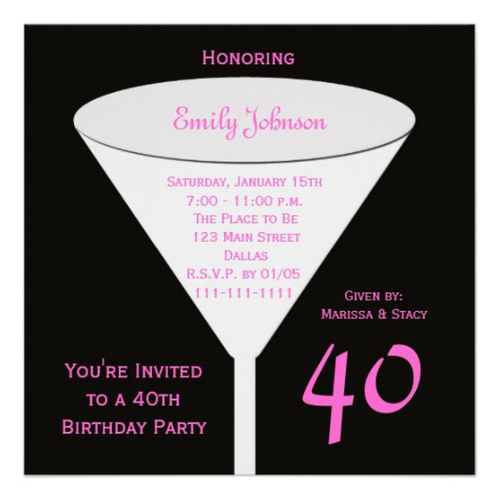 Invitation Templates 40th Birthday Party 4 | Birthdays | Pinterest ...
