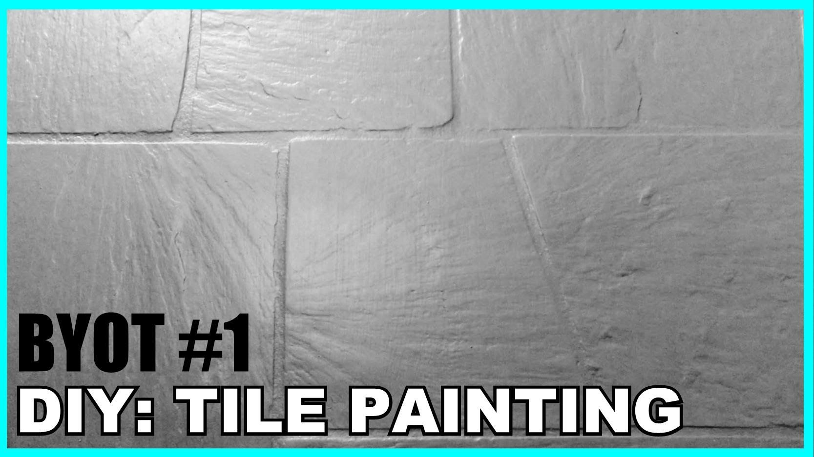 Byot 1 Diy Tile Painting Youtube Home Ideas Pinterest