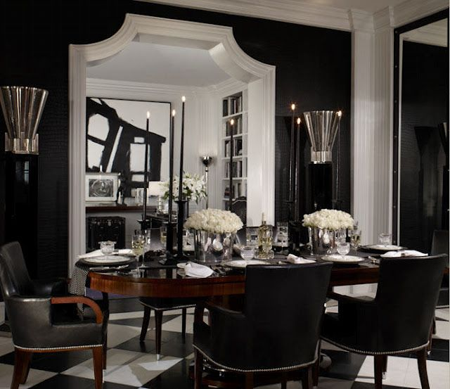 LOVE This Door Frame Black Dining RoomsBlack