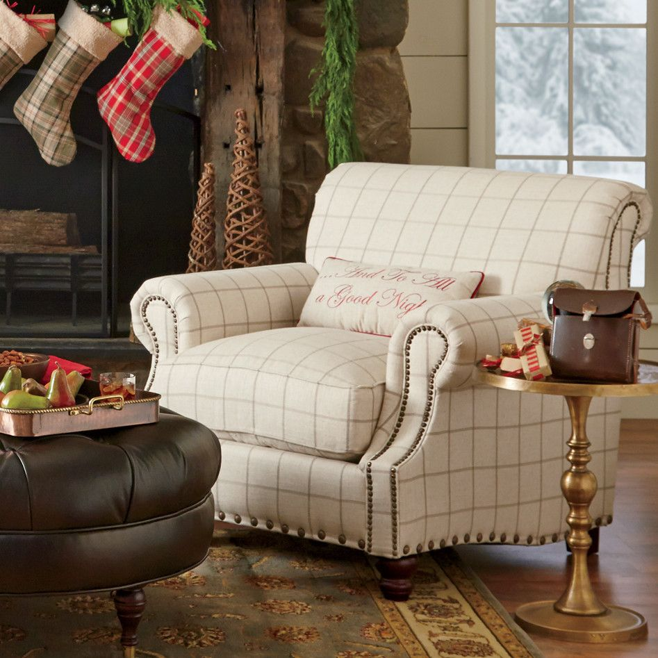 Lane Living Room Furniture Birch Lane Landry Chair Love The Neutral Check Fabric Size And