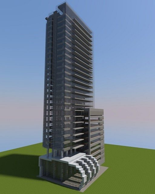 Apartment Building Minecraft a modern apartment building i made in minecraft. download link