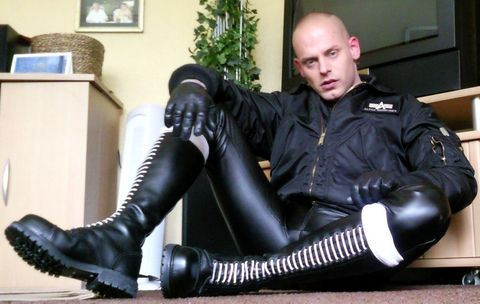 Punkerskinhead Hide Pinterest Leather Boots And