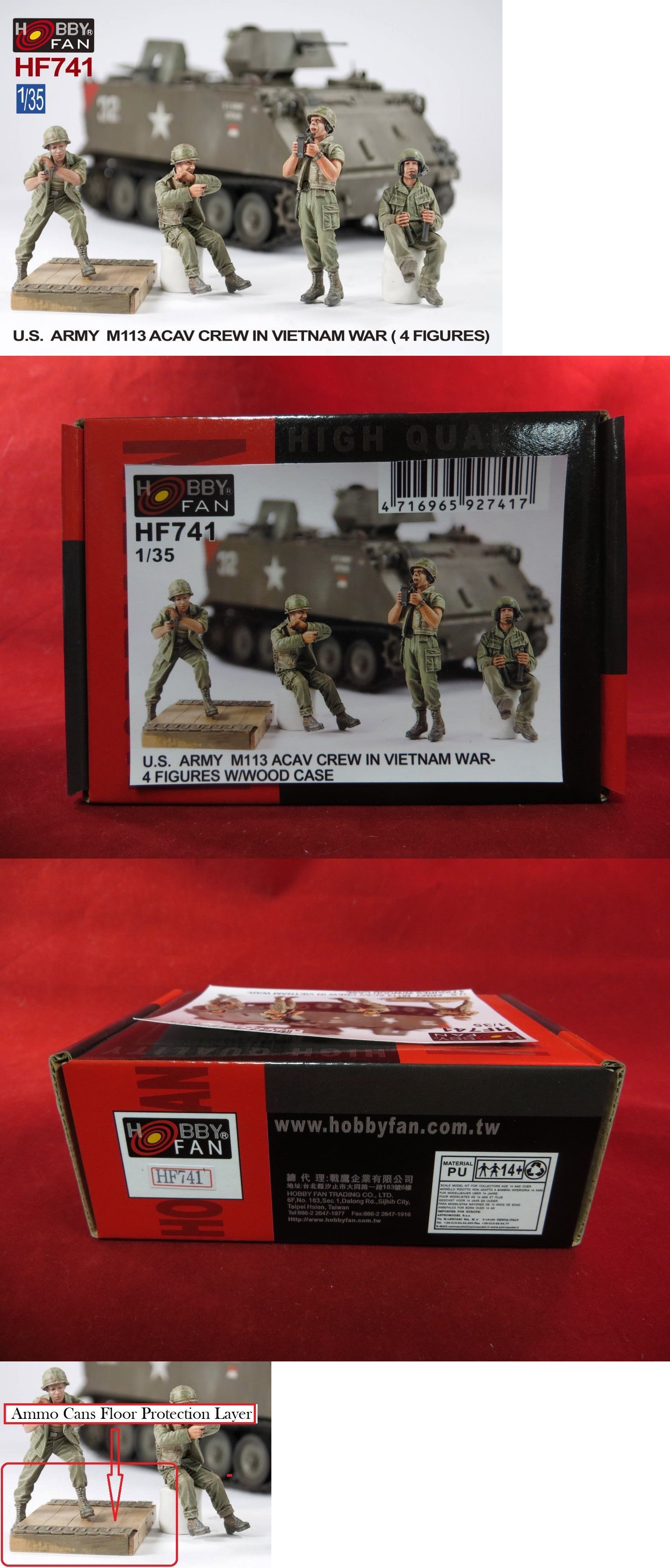 Military 2586: Afv Club Hobby Fan Hf741 1 35 Us M113 Acav Crew Vietnam W  Ammo Can Floor Layer -> BUY IT NOW ONLY: $45 on #eBay #military #hobby  #vietnam ...