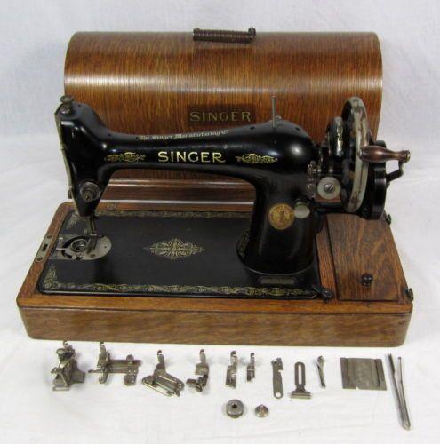 ANTIQUE 1925 Manual SINGER SEWING MACHINE Simanco No. 62 W/ WOOD CASE u0026 EXTRAS & ANTIQUE 1925 Manual SINGER SEWING MACHINE Simanco No. 62 W/ WOOD ... Aboutintivar.Com